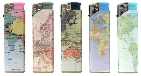 Accendino David Ross Maxi World Maps x 50pz