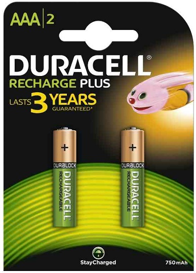 Duracell Ministilo Ricaricabili Recharge Plus Value AAA 1 x 2pz