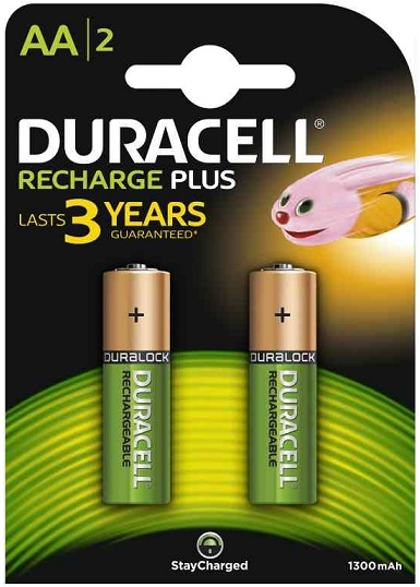 Duracell Stilo Ricaricabili Recharge Plus Value AA 1 x 2pz