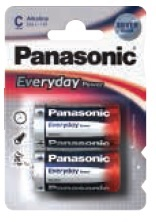 Panasonic Mezza Torcia Everyday Silver C Blister da 2pz