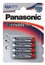 Panasonic Ministilo Everyday Silver AAA 12 x 4pz