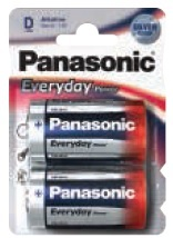 Panasonic Torcia Everyday Silver D 12 x 2pz