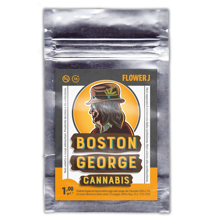 Canapa Light Boston George Cannabis Flower J 10 bustine da 1gr