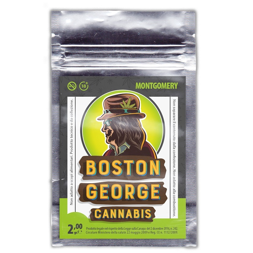 Canapa Light Boston George Cannabis Montgomery 10 bustine da 2gr