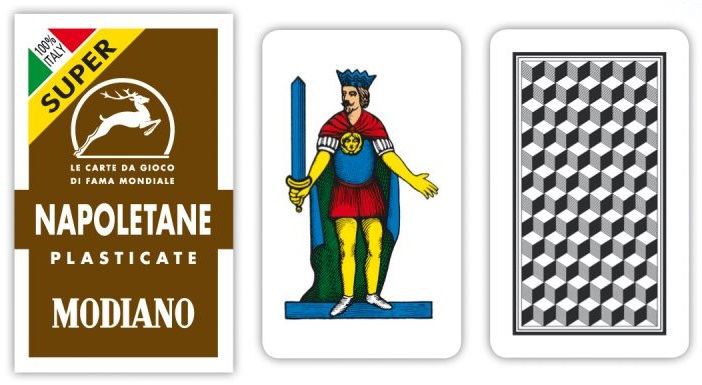 Carte Napoletane Modiano Super Astuccio Marrone x 1pz