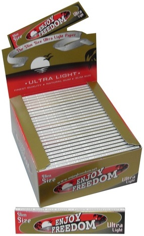 Cartina Enjoy Freedom Gold King Size Slim x 50pz