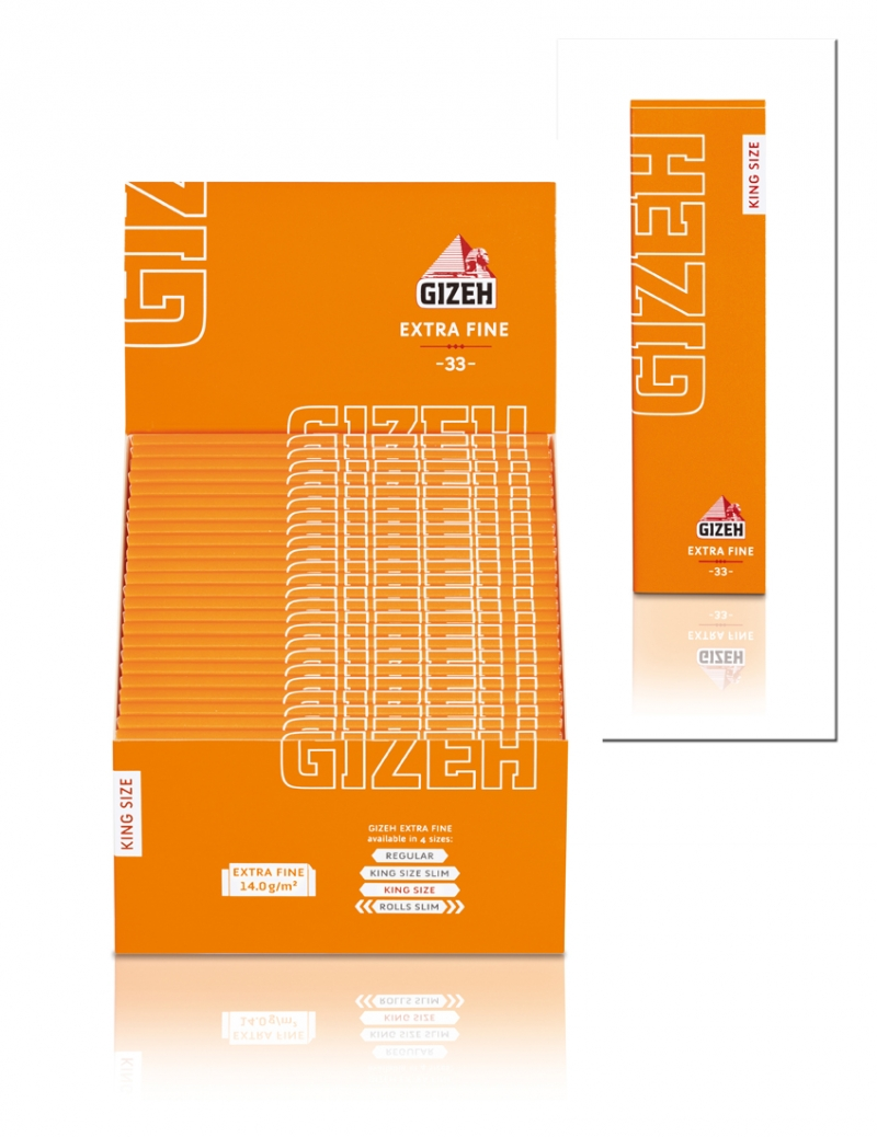 Cartina Gizeh Orange King Size Lunghe x 50pz