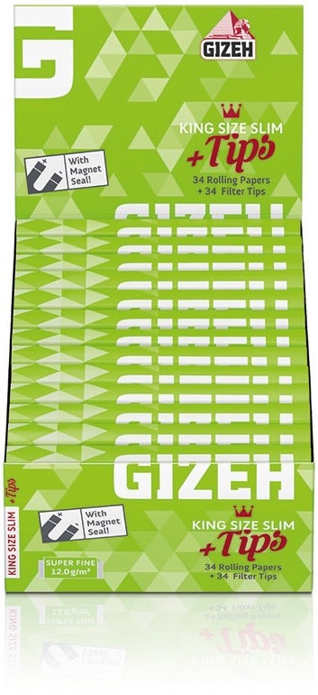 Cartina Gizeh Super Fine KS Slim Lunghe e Filtri in Carta x 26pz