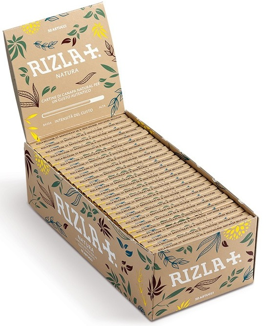 Cartina Rizla Natura Corta in Canapa Biologica x 50pz