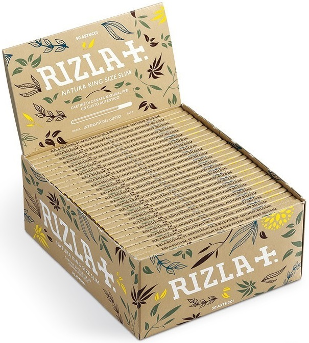 Cartina Rizla Natura King Size Slim in Canapa Biologica x 50pz