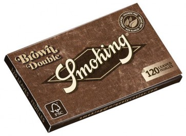 Cartina Smoking Brown Double Corta x 25pz