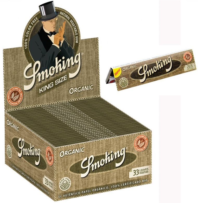 Cartina Smoking Organic King Size Slim x 50pz