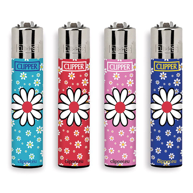 Accendino Clipper Large Daisies 6 x 48pz