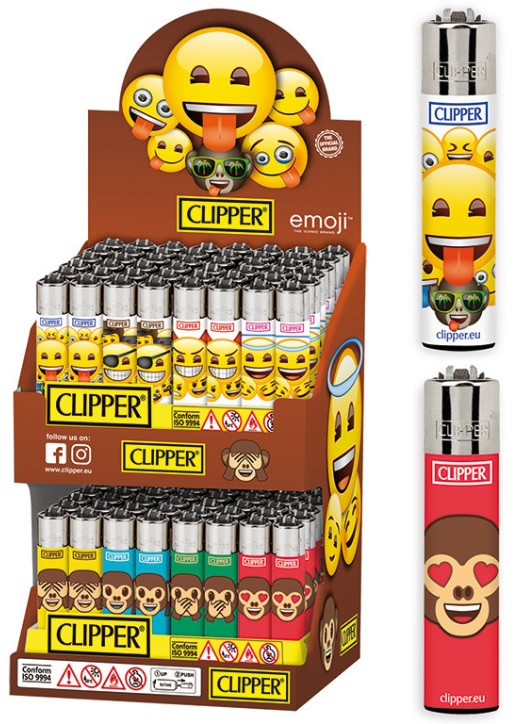 Accendino Clipper Large Emoji Party I Expo x 96pz
