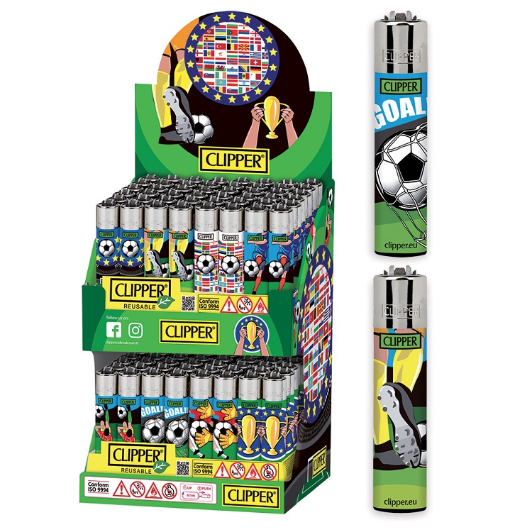 Accendino Clipper Large Football Cup Expo x 96pz