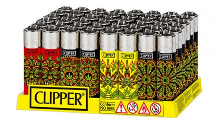 Accendino Clipper Large PSY Weed 2 K x 48pz