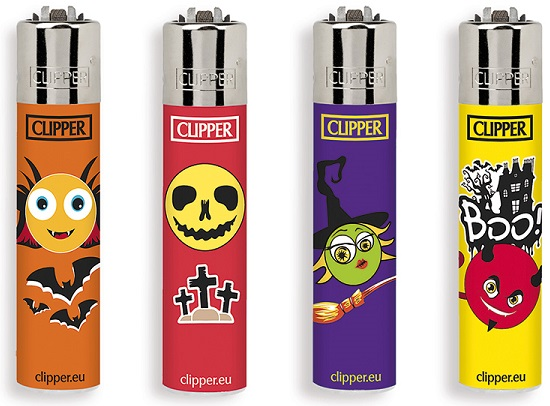 Accendino Clipper Micro Emoticons 34 Horror x 48pz