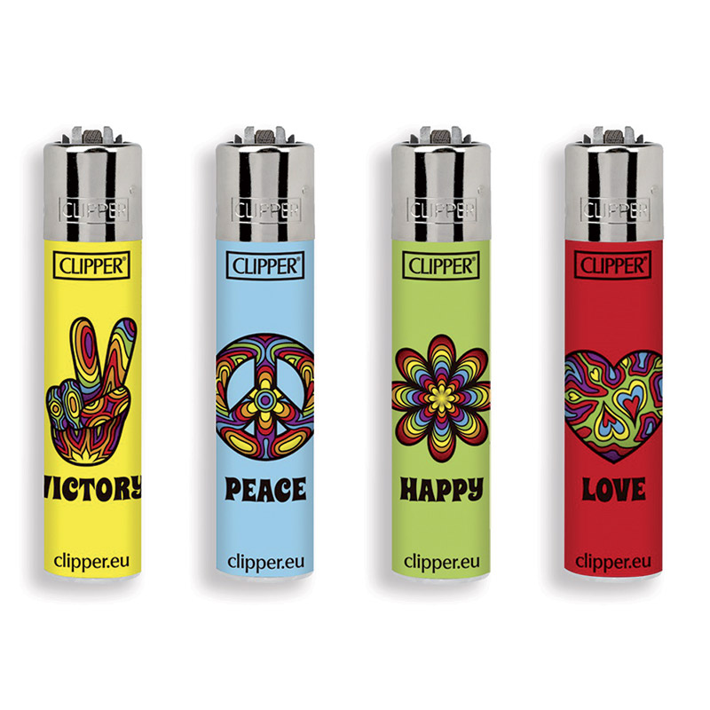 Accendino Clipper Micro Peace & Love x 48pz