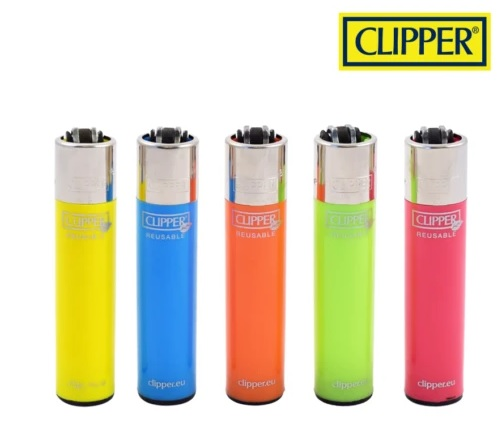 Accendino Clipper Micro Solid Reusable x 48pz