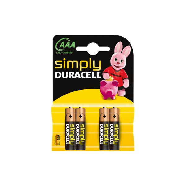 Duracell Ministilo Simply AAA 10 x 4pz