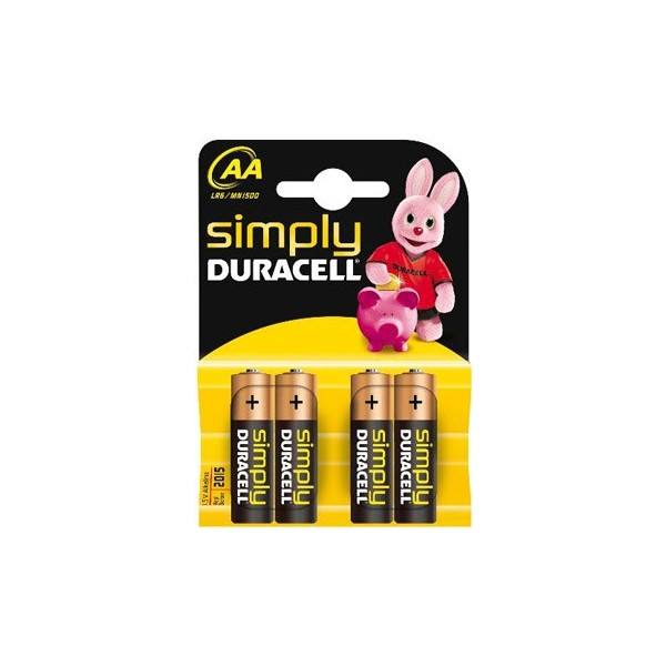 Duracell Stilo Simply AA 20 x 4pz