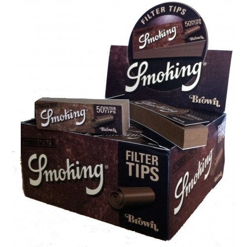 Filtri Smoking Brown a Blocchetto x 50pz
