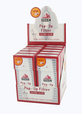 Filtri Gizeh Pop-Up Extra Slim 5,3mm x 10pz