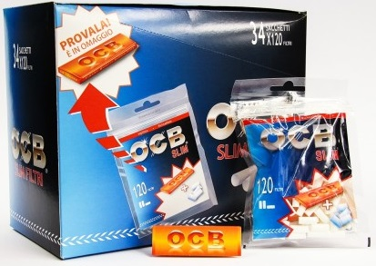 Filtri OCB Slim 6mm x 34pz più Cartina OCB Orange in Omaggio