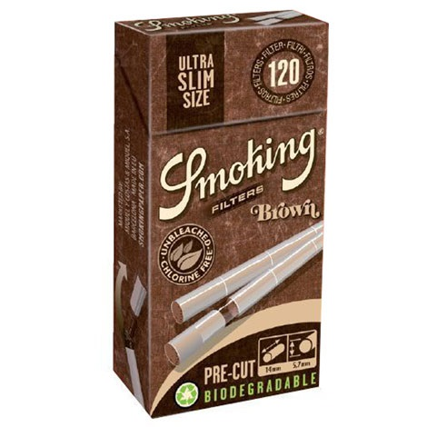 Filtri Smoking Brown Ultra Slim 5.7mm Biodegradabili 120 x 20pz