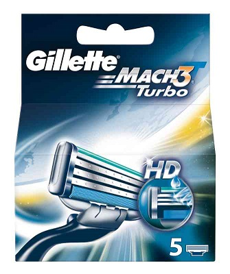 Gillette Mach3 Turbo x 5pz