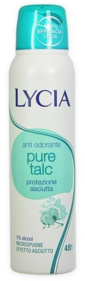 Lycia Pure Talc Spray Anti Odorante 150ml