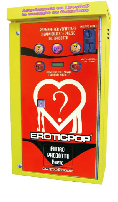 POP SHOP BR500 EROTIC - Distributore 5 pulsanti 6 Canali